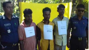 3 members of forest robber gang 'Nur Hossain Bahini' held