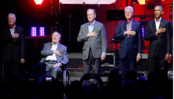 5 ex-US Presidents unite for hurricane relief concert