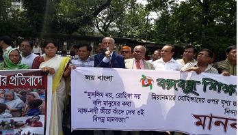 'রোহিঙ্গা নয় মানবতা বিপর্যস্ত'
