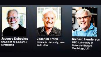 ইলেকট্রন মাইক্রোস্কোপি গবেষণায় নোবেল পেলেন তিন রসায়নবিদ