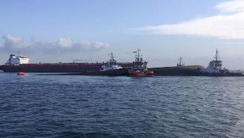 Two killed in Singapore ship collision