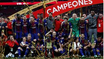 Barcelona, Messi beat Sevilla for Copa Del Rey title