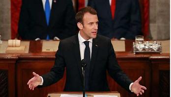 Macron attacks nationalism in US speech