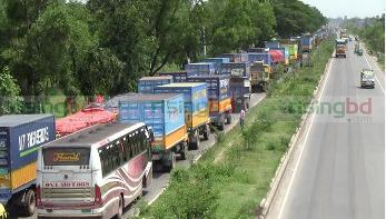 কুমিল্লায় ১০ কিলোমিটার যানজট