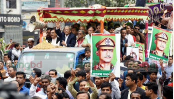 Oikyafront brings out Bijoy Rally in capital