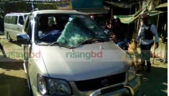 Fakhrul's motorcade attacked in Thakurgaon