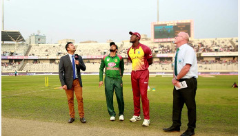 Bangladesh batting against West Indies in 2nd T20I