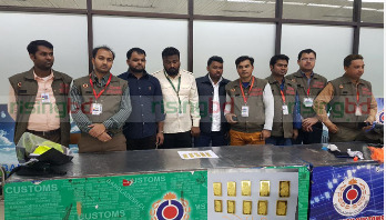 3 held with gold bars in Shahjalal Airport