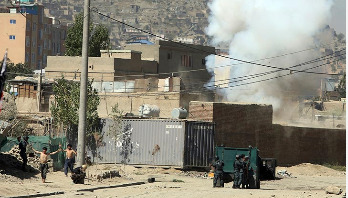 Rockets fired at Afghan presidential palace