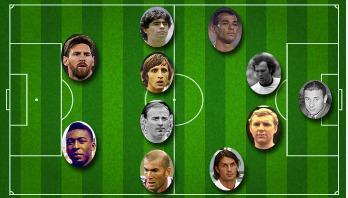 সর্বকালের সেরা ফুটবলারদের নিয়ে একাদশ