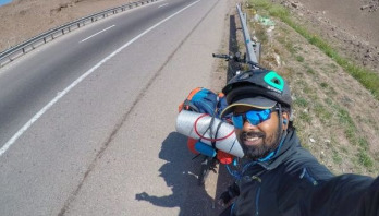 Indian who cycled to Russia to meet Messi