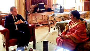 স্পিকার শিরিন শারমিনের সঙ্গে মোটো নগুচির সাক্ষাৎ