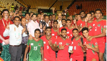 BD makes good start in Bangabandhu Int'l Volleyball Championship