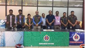 3kg gold seized at Shahjalal Int'l Airport