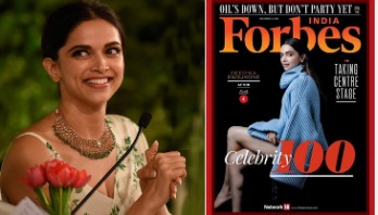 Deepika shoots up Forbes India 100 celebs list