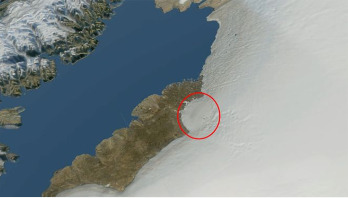 Greenland ice sheet hides huge impact crater