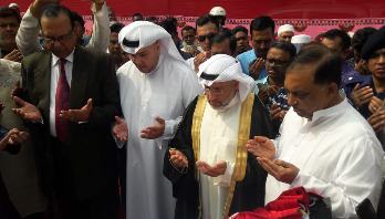 Home minister lays foundation stone of KSR mosque