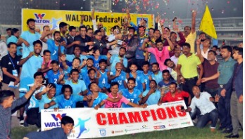Abahani lift 2nd hat-trick title of Federation Cup Football
