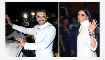 Deepika, Ranveer leave for their wedding