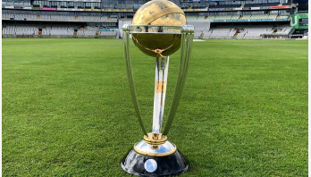 ICC Cricket World Cup trophy in Chattogram