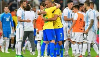 Miranda heads late winner as Brazil beat Argentina 1-0