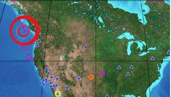 3 powerful earthquakes strike off coast of Canada