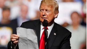 Trump falls in love with Kim