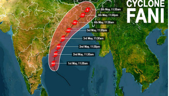 Fani moving up coast, danger signal 7 issued