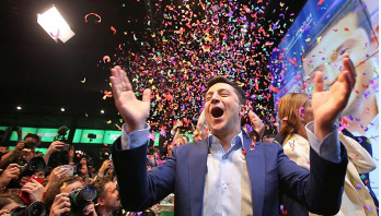 Comedian Zelensky wins Ukraine election