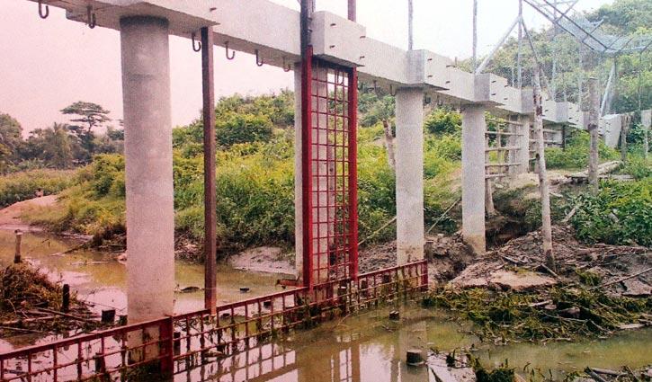 এবার তুমব্রু খালে স্লুইচ গেইট নির্মাণ করছে মিয়ানমার