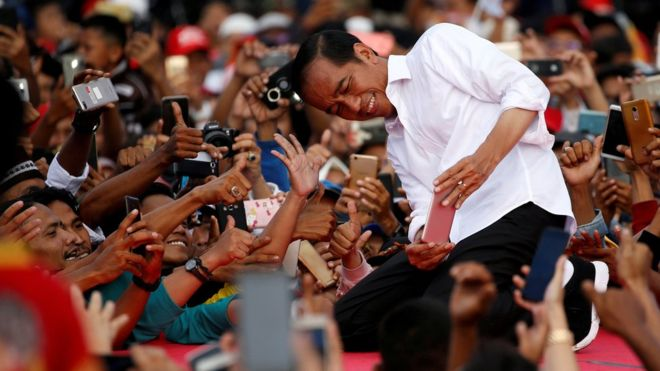 Indonesia's Widodo declares victory amid dispute