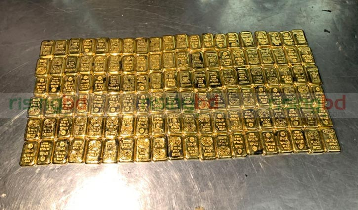 14 kg gold seized at Shahjalal airport
