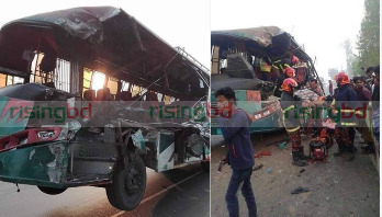 Bus-truck collision kills 6 in Cumilla