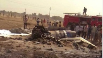 India's MiG fighter jet crashes
