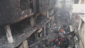 Investigators inspect scene of deadly Chawkbazar fire