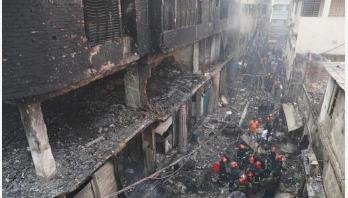 Five burnt people taken to ICU