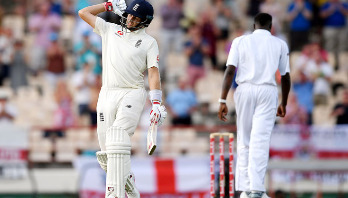Root's ton helps England pile up 448-run lead
