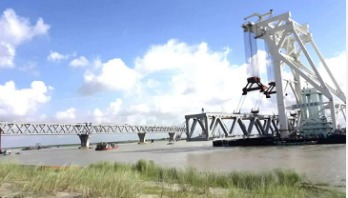 8th span of Padma Bridge to be installed Wednesday
