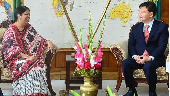 স্পিকারের সঙ্গে কোরিয়ান সংসদ প্রতিনিধিদলের সাক্ষাৎ
