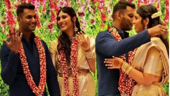 Vishal and Anisha engaged