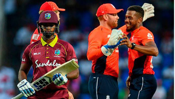 England dismiss West Indies for 45