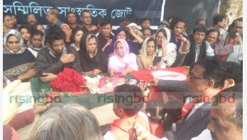 Last tributes to Bulbul at Shaheed Minar