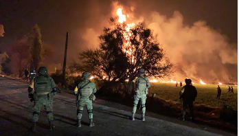 Mexican pipeline explosion kills at least 21