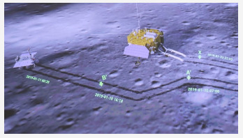 China Moon probes take snaps of each other