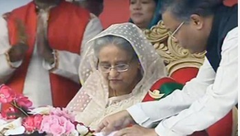 Sheikh Hasina joins Victory Rally