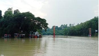 Rangamati hanging bridge goes under water
