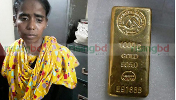 Woman held with gold bar in Khulna