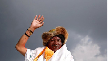 Nepalese climber scales Everest record 24 times