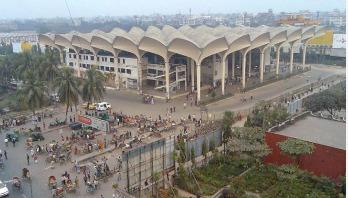 কমলাপুর স্টেশনে আগুন