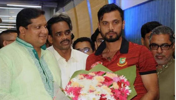 Mashrafe returns home